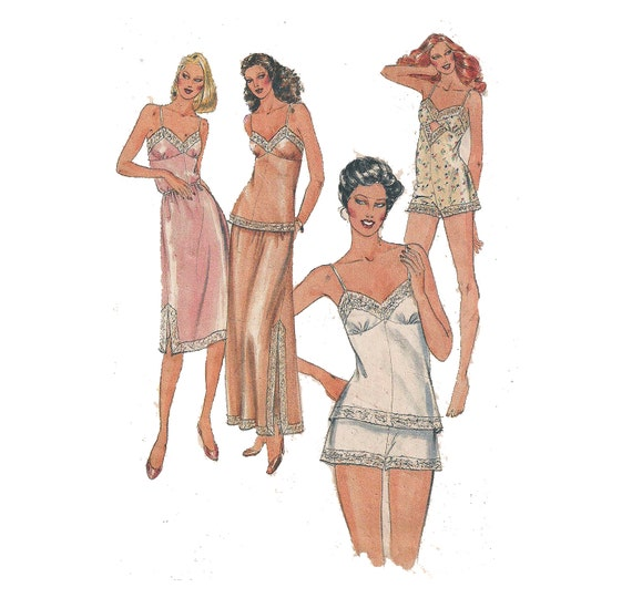 Items similar to vintage lingerie pattern 80s half or full slip
