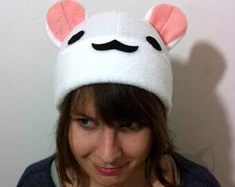 White and Crean Bear hat