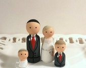 Cake Cuties Custom Wedding Cake Toppers plus two Kid Cuties