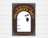 Halloween Party Invite Printable Ghost Theme Invitation