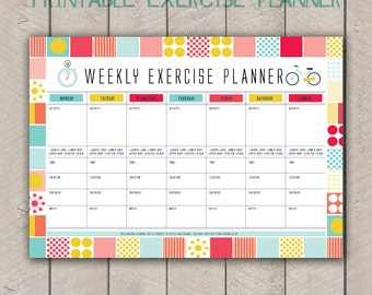 Fitness Planner Template. weekly workout planner template eoua ...