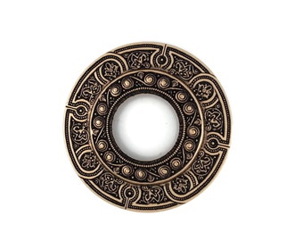 Large Porthole Port Hole Filigree Ox Brass Stamping 74mm Qty 1 One Made in the USA for Dr Brassy Steampunk