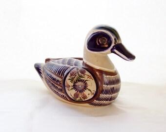 Vintage Duck Tonalá Pottery Stoneware Signed Mexico Mateos Art Pottery From Mexico