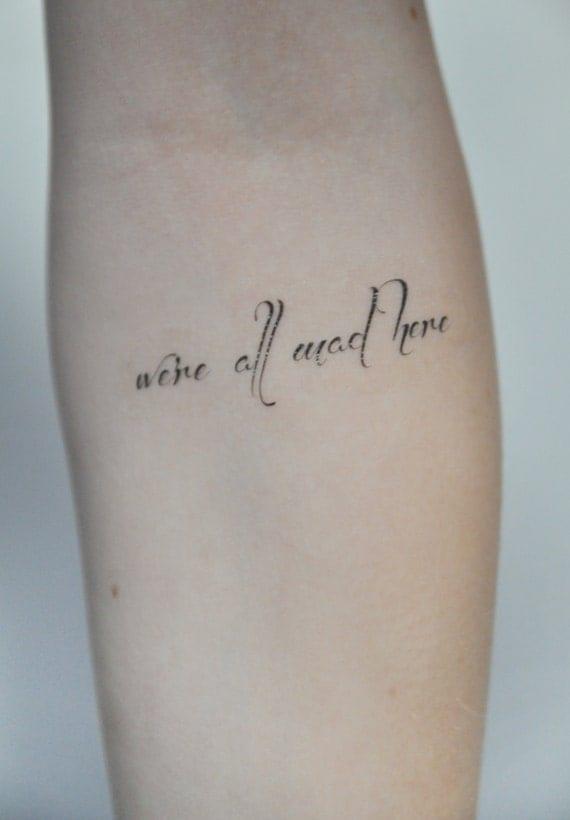 Cite de tatouage temporaire tatouage temporaire alice in for Small alice in wonderland tattoos