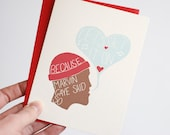 Valentines Card - Naughty Valentine's Day Card - Funny I Love You Card - Let's Get It On