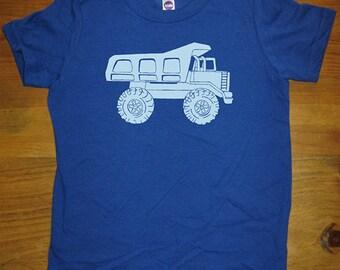 Dump Truck Shirt - Kids Shirt - Boys shirt , Girls Shirt - 6 Colors - Sizes 2T, 4T, 6, 8, 10, 12 - Gift Friendly