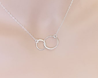 Karma Necklace, Sterling Silver, Circle Necklace, Karma Jewelry, Weddings, Graduation Jewelry, Wedding Jewelry, Infinity Necklace, For Her