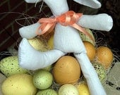 Easter Bunny Easter eggs centerpiece, egg hunt party decor, spring Easter egg centerpiece, Pierre Lapin, French country Easter rabbit