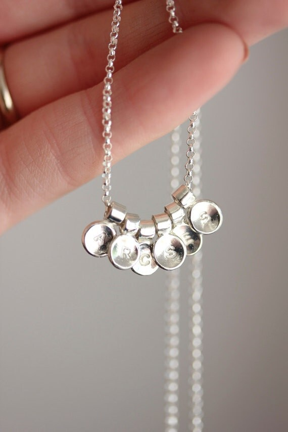 Sterling Silver Initial Necklace Personalized Necklace Gift