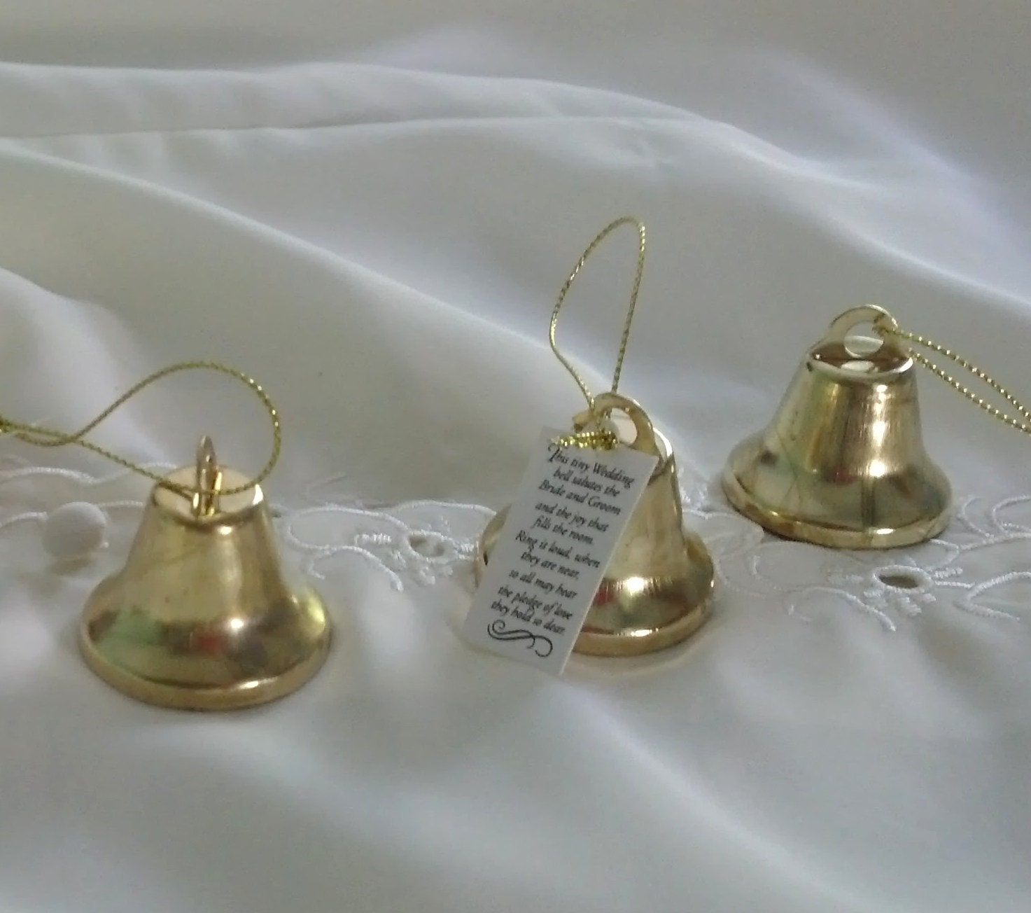 gold wedding bell favors set of 24 winter reception