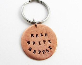 Writer Gift (Read & Write Keychain, Hand Stamped)