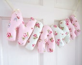NIAMH - Personalized Baby name wall hanging, pink nursery decor. New baby girl Christening gift, baby shower gift or baby 1st Christmas.