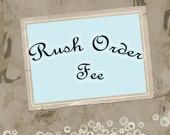 Rush Fee for SweetheartTutus Boutique by Lindi's Custom Designs.....Items under 2 Week Turn Time