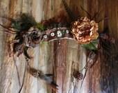 Fairy Cameo Headdress // Woodland Bridal Head Piece, Fantasy, Elven