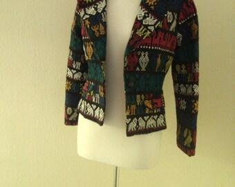 Vintage woven ethnic jacket