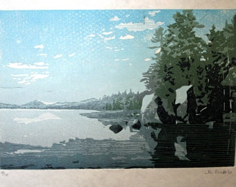 Split Rock Pond, Pharoah Lakes Wilderness, New York  -Hand Pulled, Limited Edition