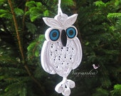 Owl always love you - Paper Quilling Owl in a gift box ,Paper Quilled White Owl,Filigree made to order