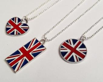 Sale! England Britain British UK Flag Necklace