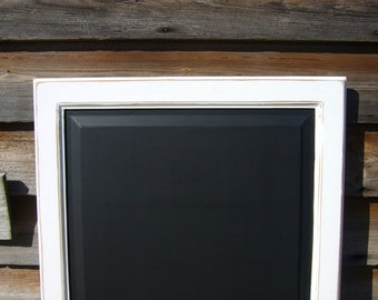 Square Chalkboard - Rustic Home Decor - Large Blackboard UK - Kitchen Blackboards - White Chalkboards - Framed Noteboard - Rustic Chalkboard