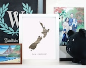 Printable Your Home Country - New Zealand - INSTANT DOWNLOAD 8x10