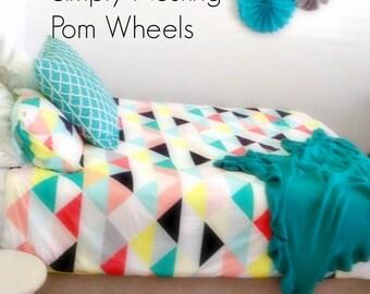 11 Tissue Paper Pom Wheels, Pom Poms, Pom Medallions, Nursery Decor, Childrens Room, Guest Room Decor, Handmade Pom Wheels, Birthday Party