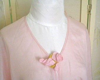 Antique Bed Jacket Orchid Pink Silk 1920s Lingerie with Edwardian Style