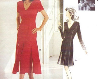 90s Tom & Linda Platt Womens Flapper Dress Vogue Attitudes Sewing Pattern 1155 Size 6 8 10 Bust 30 1/2 to 32 1/2 UnCut