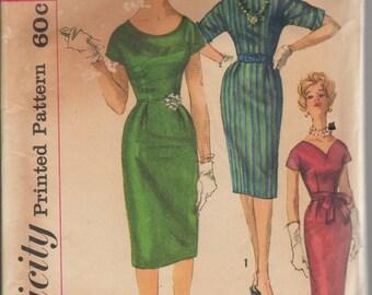 Bust 34-1960's Misses' Dress With Sash Simplicity 3698 Sz 14