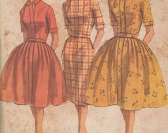 FACTORY FOLDED 1962 Misses' Dress McCall's 6350 Size 12 Bust 32