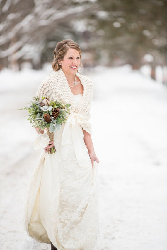 Wedding Shawl Bridal Cape Winter Wedding Bridal Shawl Wedding