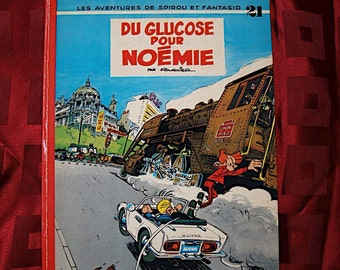 Du Glucose Pour Noemie Les Adventures de Spirou et Fantasio 1971 Dupuis No 21 Train Mushroom Children Teens Fun Illustration Fournier