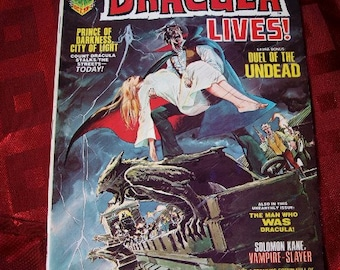 Dracula LIves No 3 1973 Marvel Horror Undead Prince Of Darkness Solomon Kane Slayer Lugosi Witches Graphic Illustration