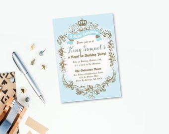 King or Prince Party Collection - PRINTABLE INVITATION by Itsy Belle