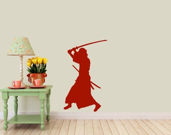 Samurai, Japan, tradition,  vinyl Wall DECAL- ninja, sticker art, room, home and business decor