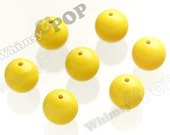 20mm - 100 PACK Sunny Yellow Gumball Beads, Bulk Gumball Beads, Wholesale Gumball Beads, Wholesale Chunky Beads, 20mm Beads, 2mm Hole