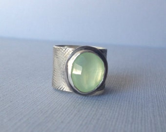 Whimsy ring - Prehnite