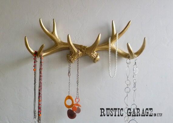 Gold antlers wall decor : Gold antlers metallic deer antler rack holiday wall