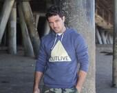 End of season SALE - Size L Hoodie Sweatshirt for men and women - Unisex blue hoodie - mens apparel