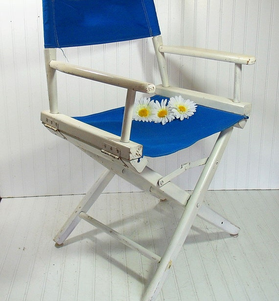 Vintage Wood & Canvas Director's Chair Chippy by DivineOrders