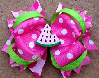 Adorable PINK WATERMELON  hair bow!