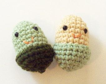 Acorn Dolls - Set of 2 - Sage Green and Beige