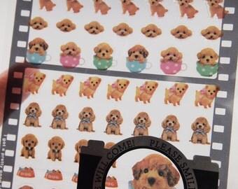 Lovely Puppy / Dog Sticker (1 sheet)