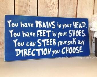 Dr. Seuss Direction You Choose Sign