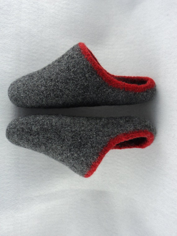 how to make knitted felted wool slippers