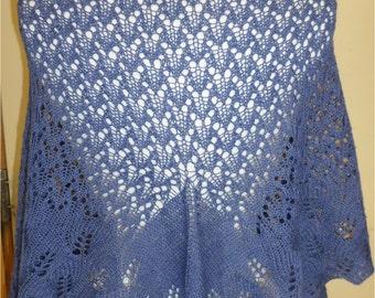 Knit Lacy Leaf Wrap Pattern