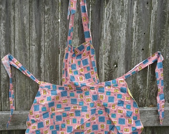 Blueberries & Butterfies Tie Apron