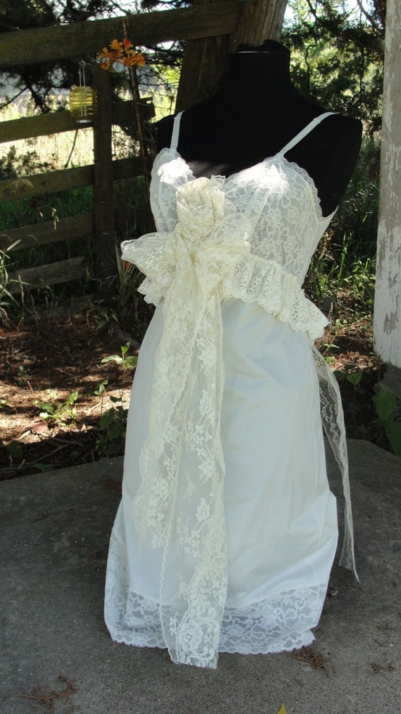 Shabby Chic Vintage Wedding Gown French Chic By SummersBreeze