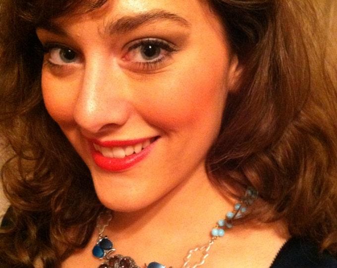 Fit for A Queen ~ Royal Purple Amethyst Fur Clip Assemblage, Fur Clip Necklace, OOAK, Antique Fur Clip Necklace