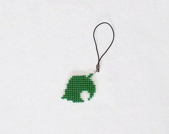 Animal Crossing phone charm - Leaf