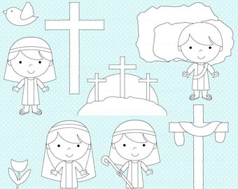 easter stamps christian bible digital - The Easter Story Digital Stamps